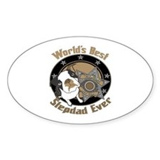 Top Dog Father Oval Decal