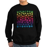 Rainbow Cat Tracks Sweatshirt (dark)
