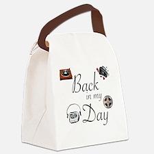 Funny Cassette Canvas Lunch Bag