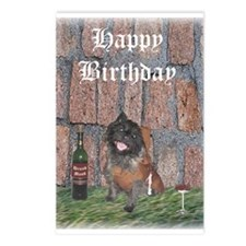 Merrie Monk Cairn Terrier Birthday Postcards - 8