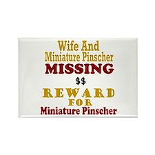 Wife & Miniature Pinscher Missing Rectangle Magnet