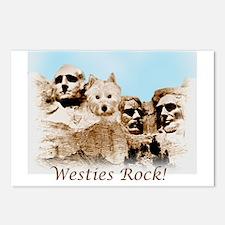 Westies Rock Postcards (Package of 8)