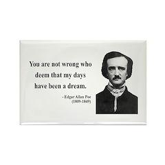 Edgar Allan Poe 23 Rectangle Magnet