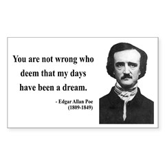 Edgar Allan Poe 23 Rectangle Decal