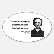 Edgar Allan Poe 23 Oval Decal