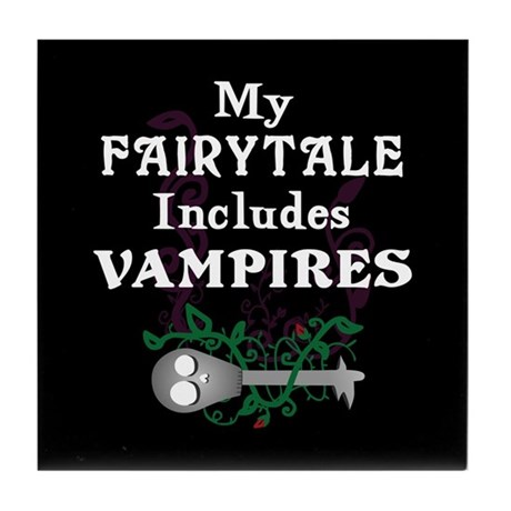 Vampire Fairytale Tile Coaster
