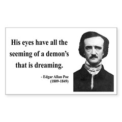 Edgar Allan Poe 24 Rectangle Decal