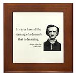Edgar Allan Poe 24 Framed Tile