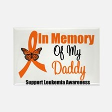 Leukemia In Memory Daddy Rectangle Magnet (10 pack