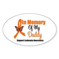 Leukemia In Memory Daddy Oval Decal
