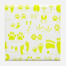 Cute Animal tracks Tile Coaster