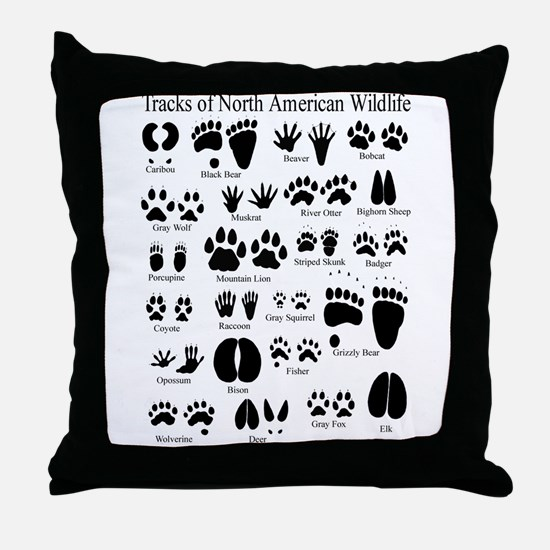 Cute Animal tracks Throw Pillow