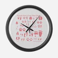 Pink Tracks Large Wall Clock