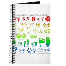 Rainbow 3D Animal Tracks Journal