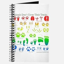 Rainbow 3D Animal Tracks Journal