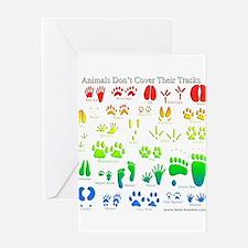 Rainbow 3D Animal Tracks Greeting Card