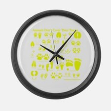 Yellow Tracks Large Wall Clock