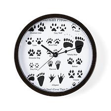 Predator Tracks Wall Clock