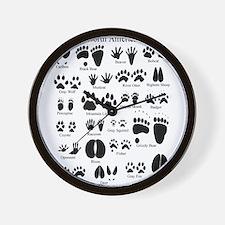 Animal Tracks Guide Wall Clock