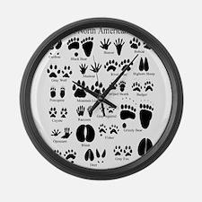 Animal Tracks Guide Large Wall Clock