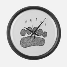 Grizzly Track Large Wall Clock