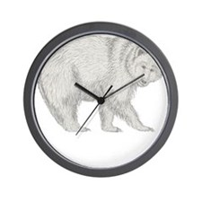 Grizzly and Tracks Wall Clock