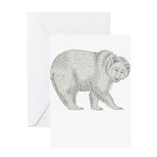 Grizzly and Tracks Greeting Card
