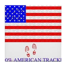 American Tracker Tile Coaster