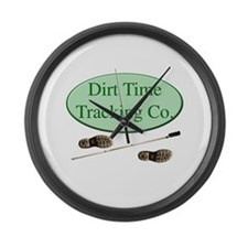 Dirt Time Tracking Company Large Wall Clock