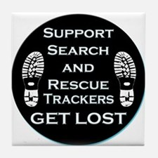 Support SAR Trackers Tile Coaster