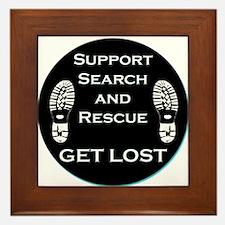 Support SAR - Get Lost Framed Tile