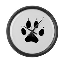 Wolf Paw Large Wall Clock