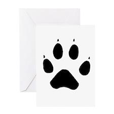 Wolf Paw Greeting Card