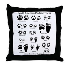 Predator Tracks Throw Pillow