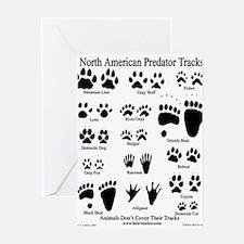 Predator Tracks Greeting Card