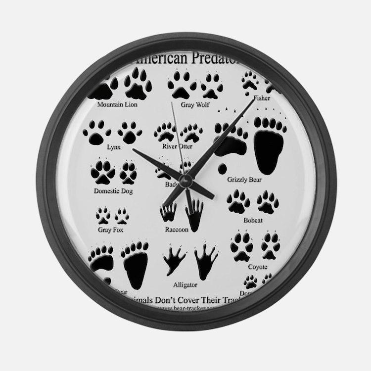 North American Predator Track Large Wall Clock