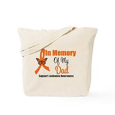 Leukemia In Memory Dad Tote Bag