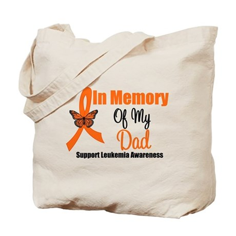 Leukemia In Memory Dad Tote Bag