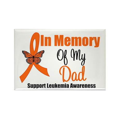 Leukemia In Memory Dad Rectangle Magnet