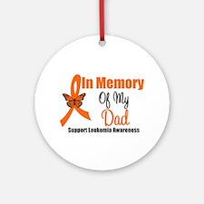 Leukemia In Memory Dad Ornament (Round)