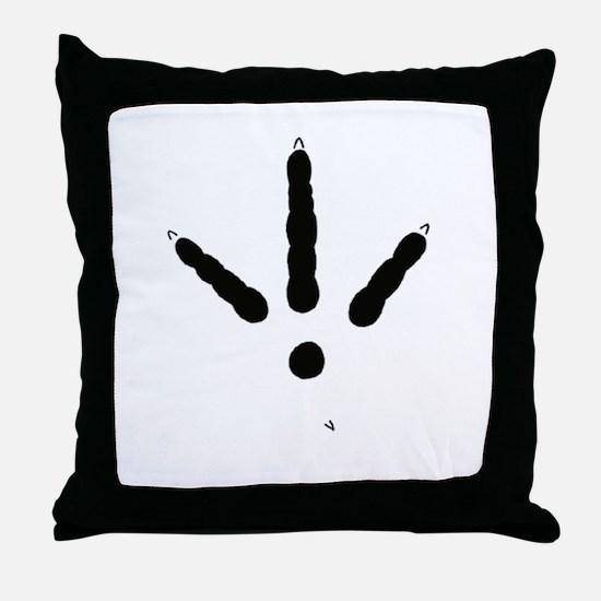 Turkey Track Throw Pillow