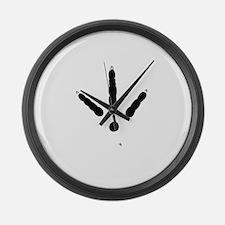 Turkey Track Large Wall Clock