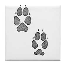 Coyote Tracks Tile Coaster