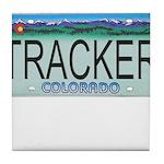 Colorado Tracker Plate Tile Coaster
