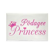 Podagee Princess Rectangle Magnet