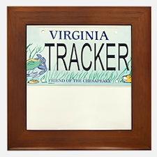 Virginia Tracker Plate Framed Tile