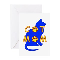 Cat Mom Greeting Card