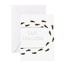 SAR Tracker Shoes Greeting Card