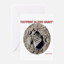 Zero Gravity Footprint Greeting Card