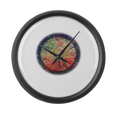 Robins with Berries Large Wall Clock